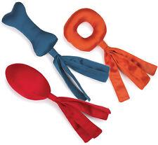 Grriggles TASSEL TUGS Dog Toy Strong Nylon Cover Squeaker Toss Tug Bright Colors