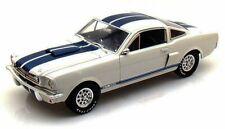 1966 Shelby GT350 White w/ Blue Stripes Shelby SC160 1/18 Scale Diecast Car