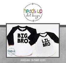 Big Bro/Lil Bro Matching Raglan Shirts Big/Little Brother Sibling Tees Trendy