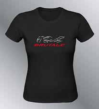 Tee shirt personnalise Brutale S M L XL XXL femme noir MV moto line