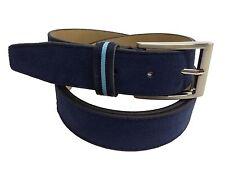 Cinturon de Cuero Color  Azul Marino (PIEL DE UBRIQUE 100 %)