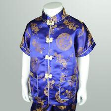 Boy Chinese New Year Dragon suit costume set AU Size 00-3 Blue Gold pattern