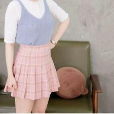 Fashion Women Tennis High Waist Plaid Skater Flared Pleated Mini Skirt Dress FW