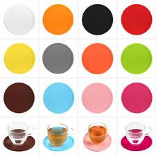 Reusable Silicone Drink Round Coaster Replacemat Pad Holder Coffee Tea Mug Mat