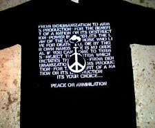 Crucifix - 'Peace or' T-shirt (punk oi kbd crass discharge negative minor 1984)