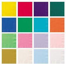 20pk Paper Napkins Serviettes Party Tableware Plain Solid Colour Themed Catering