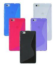 Silikon Schutz Zubehör Hülle huawai Gummihülle für Huawei Ascend P8 LITE + Folie