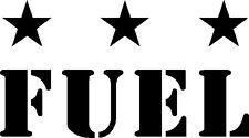 Jeep Fuel Wrangler Hood Vinyl Decal Pair JK CJ TJ YJ OFF ROAD MOPAR LIBERTY USA