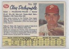 1962 Post Canadian #197 Clay Dalrymple Philadelphia Phillies Baseball Card