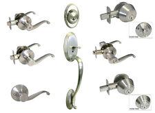 Satin Nickel door knob lever  entrance privacy passage dummy single deadbolt 835