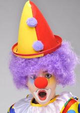 Childs Dimensione Bright Circo Clown Hat Cappello unica colori assortiti
