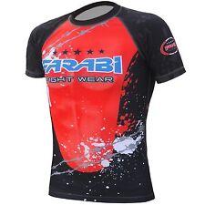 Farabi MMA rash guard compression top gym training body armour BJJ base layer