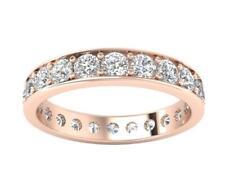 VVS1 F 2.20Ct Genuine Diamond Eternity Anniversary Ring Appraisal 14Kt Rose Gold