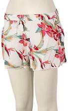 Roxy Salty Tan Shorts - Bright White Tropic - New