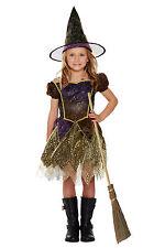 edles Mädchen Kostüm Hexe Kleid Hut Glitzer oder Hexenbesen Walburgisnacht