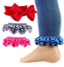 Celegrity - Girls Footless Tight, Leggings Interchangeable Ruffles Strike A Pose