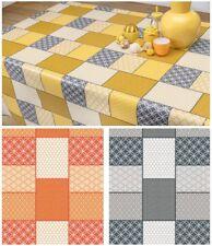 PVC Tovaglia con motivo mosaico piastrelle GEO FLOREALE QUADRATO pulire in grado di protezione