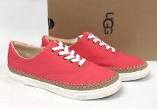 UGG AUSTRALIA EYAN II Sunset Red CANVAS BOAT STYLE SNEAKERS 1011223 Women's Shoe