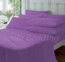 """CalKing Solid 5pc 100% Egyptian Cotton 15"""" Deep Pocket Split Sheet set All Color"""