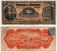 Mexico $ 50 Pesos  Banco Mercantil de Monterrey  S-355b