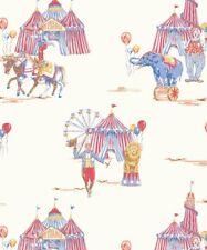 Arthouse 696001 Circus Fun Wallpaper, Red/Blue