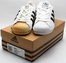 Adidas Kid's Vintage 1999 Superstar 2 Tumble Leather 049817 White/Black sz. 5
