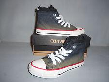 Converse CT Zip Back HI Black Youth Trainers - 645100 NIB New 2-tone Black Sizes