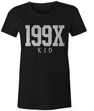 199x LINEA DONNA BAMBINO T-Shirt Retrò Tumblr Hipster Moda popolari Estate Top Tee