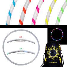 Flames N Games EUPHORIA Glow LED Hula Hoop - Multi Coloured 29 LEDs + Travel Bag