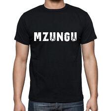 mzungu Tshirt, Homme Tshirt Noir, Mens Tshirt black, Cadeau, Gift