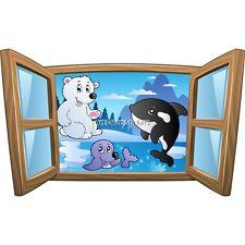Adesivo bambino finestra Animali ghiaccio ref 1024 1024