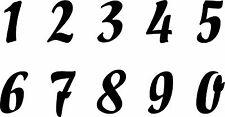 Zahlen Aufkleber von 1 bis 0 im Set Höhe je 4cm - diverse Farben zur Auswahl 701