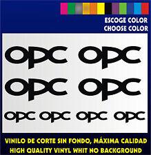 8 X PEGATINAS -STICKER- VINILO - OPC - Moto Sponsor -Pegatina - Aufkleber - Opel