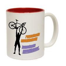 Funny MUGS-Four Wheels Move The Body-Bicycle Cycle Bike BMX Novelty Mug