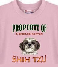Dog T Shirt - Property of Spoiled Rotten Shih Tzu - Adopt Rescue Men Women # 2