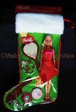 2005 HOLIDAY STOCKING GIFT SET Barbie Red Dress-VANITY SET & JEWELRY G6471_NRFB