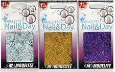 Poudre paillette  pour ongles - Bijoux Nail art -  Fantaisie - 3Teintes