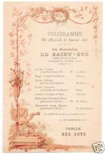 French 1893 Program Dumas Les Demoiselles De Saint-Cyr