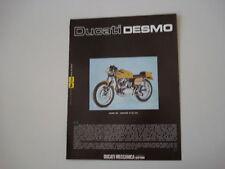 advertising Pubblicità 1974 MOTO DUCATI DESMO 250
