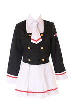 MN-59 Card Captor Sakura Schuluniform Weiß Schwarz 5-tlg. Anzug Kostüm Cosplay