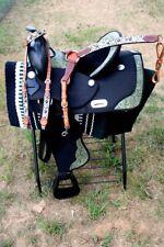 Western Cordura Trail Barrel Pleasure Horse SADDLE Bridle Tack Green 4969