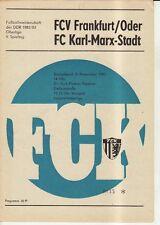 OL 83/84  FC Karl-Marx-Stadt - FC Vorwärts Frankfurt/O.