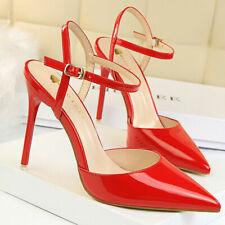 Women Slingback Sandals Pointy Toe Slip On Straps Stiletto High Heel Pumps Shoes