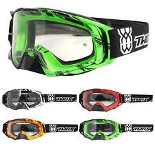 TWO-X Rocket Crossbrille Crush MX Enduro Cross Motocross Brille Goggle klar