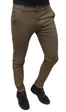 Pantalones de hombre sartoriale casual marrón de invierno de algodón da 44 a 54