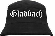 Gladbach Fischerhut - Altdeutsch - Schwarz - anglerhut buckethat mönchengladbach