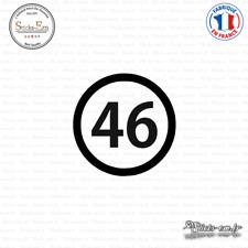 Sticker Département 46 Lot Cahors Midi-Pyrénées Figeac Decal Aufkleber Pegatinas