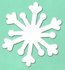 10 Large white Snowflake christmas die cuts accucut snow flake card making 9x9cm