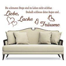 Wandtattoo Spruch  Leben Liebe Lache Träume Wandsticker Wandaufkleber Sticker 2