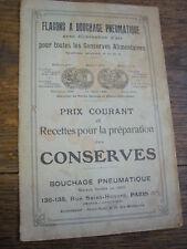 Recettes pour la préparation des conserves / début XXe